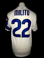 Inter Milan 2010-11 Away Vintage Football Shirt #22 Milito - Very Good Condition