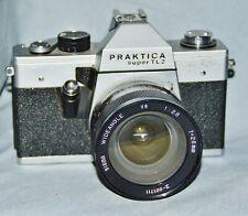 Spiegelreflexkamera Praktica Super TL2, M42, mit Sigma Wideangle YS 1:2,8 f=28mm