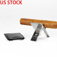 Cohiba 1 PCS Stainless Steel Mini Foldable Cigarette Cigar Rack Stand Holder