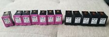 Genuine HP 304 & 304XL *Empty* Ink Cartridges X12 Black And Colour