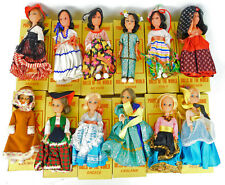 Vintage Poupees du Monde Rubber Ethnic Dolls From around the world Lot of 12