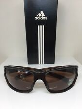 New Adidas a408 Swift Solo L Sunglasses A408 C. 6053 Shiny Brown w/ Brown Lenses