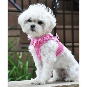 American River Pink & White Polka Dots Choke-Free Dog Harness -  XS-S-M-L-XL