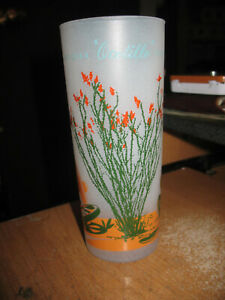 Vintage Blakely Gas and Oil Arizona Cactus Frosted Glass Ocotillo
