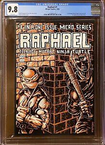 Raphael #1 CGC 9.8 - White Pages 1st Casey Jones -  Teenage Mutant Ninja Turtles