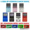 GameBoy Advance SP / GBA SP Konsole (Farbe nach Wahl) + Pokémon Spiel + Kabel