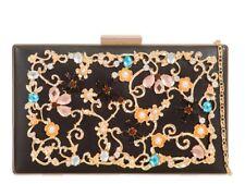 LeahWard Women's Floral Hard Case Clutch Bag Wedding Handbag Ladies Evening Bags