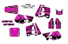 1991 1992 CR125 CR250 graphics CR 125 250 deco kit NO2001 Hot Pink