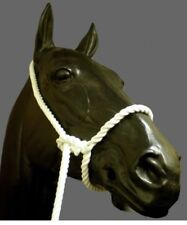 Rope Halter, Showing, One Size White- Cow, Sheep And Horse
