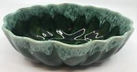 "Cookson 603 USA Green Drip Glaze Oblong Bowl Planter Candy Dish 3.5""T x 10""W"