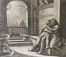 Nicolas CHAPRON ou CHAPERON d'après RAPHAEL Abimélec Isaac et Rebecca XVIII