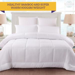 Ramesses Bamboo 800GSM Ultra-Warm Winter Quilt | Doona Super King Warm Quilts
