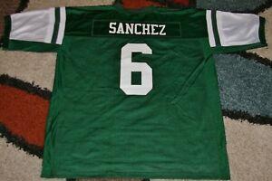 New York Jets Reebox #6 Mark Snachez NFL Equipment Jersey Green Size 2X