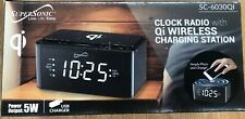 Supersonic SC6030QI Clock Radio With Qi Wireless Charging Station Brand New