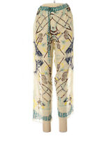Anna Sui Semi-Sheer Ivory Casual Pants with Drawstring, Size Small, NWT!