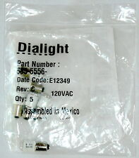 Set Of 5 Dialight Led Cluster Replacement Bulbs 585-5556 Rev C 120Vac E12349 New