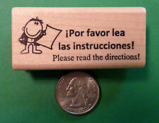 """""""Please Read the Directions!"""" - Spanish Bilingual Teacher's Stamp"""