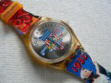 1994  Swatch watch Olympic Stop Watch Los Angeles 1932 SSZ100 New