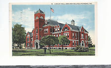 Lindley Hall  Earlham College   Richmond   IN   Mailed 1919  Postcard 5284