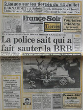 ▬► Journal France Soir 12/071986 Catherine Lara Barbara Stanwyck