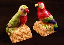 Paula Deen At Home Island Parrots Ceramic Salt & Pepper Shaker Set  #3029812 NIB
