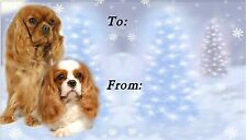 Cavalier King Charles Spaniel Christmas Labels No 6 by Starprint