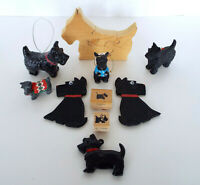 Vintage Scotty Dog Collection 10 Pc Estate Lot Ornaments Puzzle Magnets Stamps