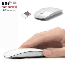 2.4GHz USB Wireless Optical Mouse Mice for Apple Mac Macbook Pro Air PC White US