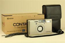 Contax T3 35mm Point & Shoot Film Camera Silver w/ box