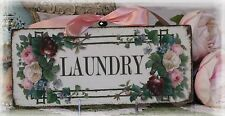 "~ ""LAUNDRY"" ~ Shabby Chic ~ Vintage ~ Country Cottage style ~ Wall Decor Sign ~"