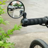 360° View Bike Mirror Safety Rearview Handlebar Bicycle Flexible Cycling Rear @