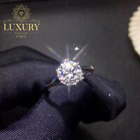 Moissanite D/VVS1 2ct Oval Cut Diamond 18K Platinum Plated Engagement Ring