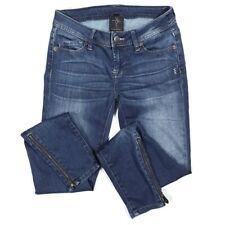 "Genetic Denim The James Skinny Zipper Jeans Size 25 Medium Blue Wash 29"" Inseam"