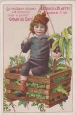 CHROMO ANCIEN PUBLICITAIRE CHICOREE GRAIN/CAFE-DUROYON/RAMETTE CAMBRAI/ENFANT