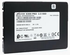 """Micron 5300 PRO 960GB 3D TLC SATA 6Gb/s 2.5"""" SSD (MTFDDAK960TDS-1AW1ZAB)"""