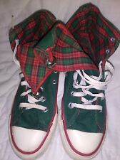 Converse Sz 4  Chuck Taylor Vtg USA Christmas Bells Green Felt Like Sneakers