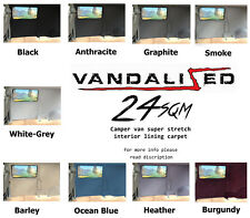 24sqm CAMPERVAN VEL SOFT TRIM STRETCH CARPET VAN LINING CAR VW t5 BOAT defender
