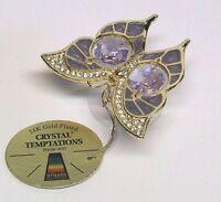 G4114 Gold Schmetterling Saugnapf Swarovski Steine Kristall 24 Karat Crystal 9cm