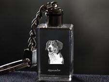 Appenzeller Sennenhund, Hund Kristall Schlüsselbund, Crystal Animals CH