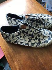 Coach-Blue & White Signature Tennis Shoes-Size 6.5