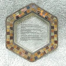 New ListingGlobal Fusion Hexagon Mirrored Mosaic Candleholder, Retired Partylite