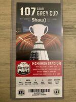 2019 Grey Cup Official CFL Ticket Stub Winnipeg Blue Bombers vs Hamilton Cats