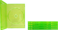 (5) VGBR14XBOX XBox 360 Translucent GREEN Empty DVD Game Boxes Cases X-Box NEW