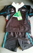 NEW NRL LICENSED TODDLER KIDS PENRITH PANTHERS TRAINING JERSEY & SHORTS  SZ 0