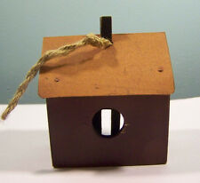 """Decorative Rustic Wood and Metal Bird House 3 1/2"""""""