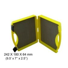Aventik Plastic Click Lock Streamer Fly Carrying Case Yellow Fly Box Large Box