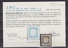 FRANCOBOLLI 1861 SARDEGNA C. 20 CELESTE GROSIO 15/XI Z/5060