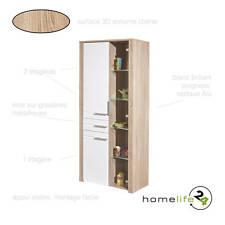 Buffet commode bahut vaisselier vitrine bas haut rangement 1 tiroir 2 portes éta