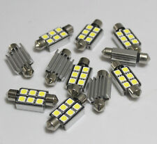 50pcs 39mm 5050 Car 6 SMD LED interior Festoon Error free Light Bulbs Canbus