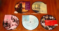 """RED HOT CHILI PEPPERS 5x 7"""" PICTURE DISC VINYL Lot HUMP SNOW SMILE DANI TELL New"""